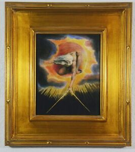 """""""THE ANCIENT OF DAYS"""" ~ WILLIAM BLAKE (1794) ~ FRAMED GICLEE PRINT ON CANVAS"""