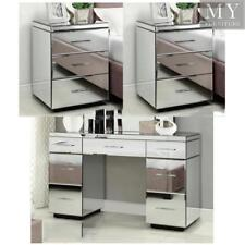 Rio Mirrored Bedside Tables & 7 Drawer Dressing Table Package - Mirror Furniture