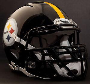 *CUSTOM* PITTSBURGH STEELERS NFL Riddell SPEED Full Size Replica Football Helmet