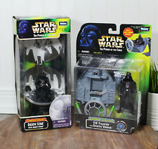 Star Wars POTF Death Star & Tie Fighter Gunner Station Darth Vader Kenner 1998
