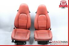 97-04 Porsche Boxster 986 Carrera 996 Front Complete Seat Cushion Set Red OEM