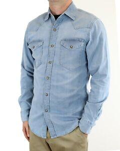 Wrangler Men's Western Snap Shirt Flex for Comfort Long Sleeve Regular Fit Denim