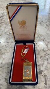 Vintage 1988 Seoul Olympics Gold Plated Key Chain Keyholder Tiger Cartoon Charm