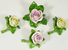 AK KAISER PORZELLAN - 4x TISCHROSE Porzellanrose Dekorose Porzellanblume Blume