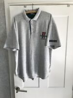 Vintage Adidas NY Training Grey Button Up Polo Shirt Phys Ed Dept Size L Clothes