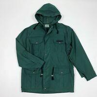 Kappa giacca cappuccio uomo usato M vintage verde jacket leggera giubbino T5881