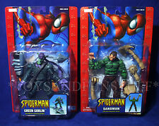 NEW - SANDMAN & GREEN GOBLIN - 2 Spider-Man Action Figures 2004 TOY BIZ Sand Man