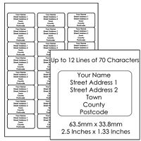 Customised Return Address Labels Projects Craft Custom Printed Small Stickers 24
