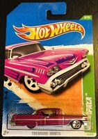 Treasure Hunts '58 CHEVY IMPALA Purple 2011 Hot Wheels 3/15 1:64