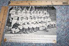 1941 BROOKLYN DODGERS NATIONAL LEAGUE PENNANT TEAM PHOTO FROM BASEBALL MAGAZINE