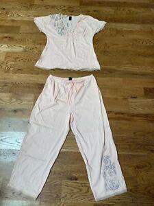 Cabernet Cotton Pink Pajama Set  - Size Large - New