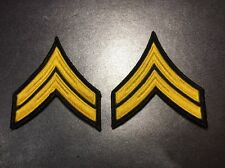 One Pair Corporal FTO Police Military Security  Stripes Patch Gold Black V2