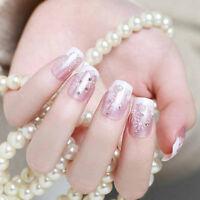 24*Snowflake short fake art skills acrylic nail fake artificial nails' S YU.