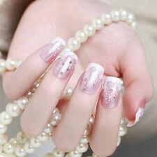 24*Snowflake short fake art skills acrylic nail fake artificial nails'detacha La