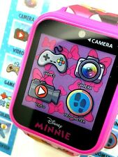 Disney Minnie Mouse Kids Interactive Smart Watch Games Camera Video Touch Screen