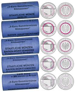 5 EURO POLARE ZONE 2021 ROLLENSATZ ADFGJ MIT JE 25 STÜCK - AB LAGER
