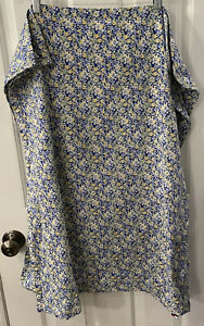 2 Tommy Hilfiger Elizabeth Anne Pillow Shams Blue Yellow White Floral Cotton EUC