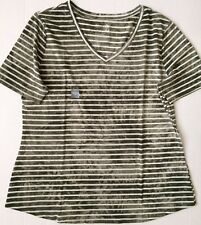 TERRA & SKY Womens V Neck Short Sleeved T.shirt Relaxed Fit Size 14W NEW