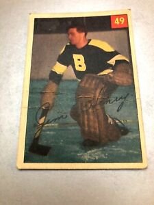 1954-55 Parkhurst #49 Sugar Jim Henry BOSTON BRUINS