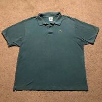 Lacoste Men's Polo Green Size 8 US 3XL Embroidered Alligator