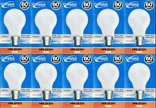 10 x 60W Pearl Light Globes / Bulbs B22 Bayonet Halogen Warm White Dimmable A60