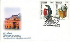 Chile 1997 FDC 250 años Correos de Chile