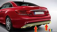NEW GENUINE MERCEDES MB E CLASS COUPE W207 AMG STYLE REAR BUMPER CHROME TRIM