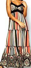 New Womens  Apricot Stripe Paisley Maxi Dress Multi Size XL UK 16 RRP£38