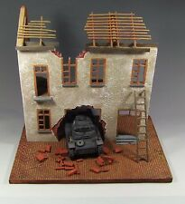 1/35 -1/30. prebuilt and painted diorama ruined Europe building