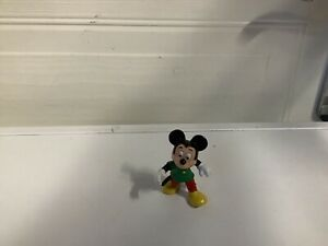 "Bullyland Disney Figure Mickey Mouse Pvc Cake Topper 2"" Tall"