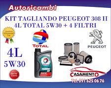 KIT TAGLIANDO 4L TOTAL 5W30 + FILTRI PEUGEOT 308 II 1.6 HDI 68KW DAL 09/2013 -->