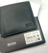 Hugo Boss Asolo Black Leather Wallet Bi-Fold 50250331 Coin Pocket Black