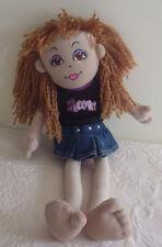 "Meow  2B Bratz Doll Black Shirt Denim Skirt 16"" Plush Stuffed Animal Toy"