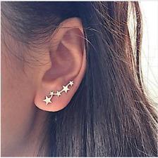 Tiny Star Ear Climber Earring Gold Stars Earrings Womens Gift UK STOCK