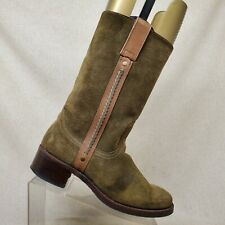 Sendra Olive Green Suede Pull On Mid Calf Boots Size 10