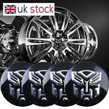 4x 51mm Silver a Cupola adesivi in Resina tappo centrale ruota consente ritagliare hub caps badge Emblema