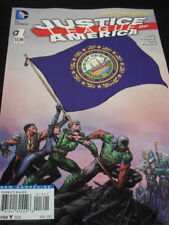 "JUSTICE LEAGUE OF AMERICA #1 ""NEW 52"" NEW HAMPSHIRE FLAG VARIANT!"