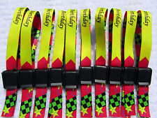 200 x WEDFEST Personalised Fabric Wristbands with Your Design,Click Clip UK