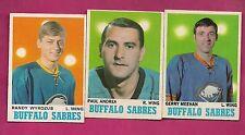 1970-71 OPC SABRES WYROZUB RC + MEEHAN RC + ANDREA RC  CARD (INV# A1904)
