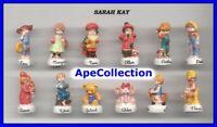 Sarah Key Raro Set 12 Mini Figuras de Porcelana Colección FEVES Cerámica