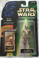 Star Wars C-3PO w/ REMOVABLE ARM POWER OF THE FORCE POTF2 FLASHBACK Brand New
