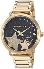 Michael Kors PORTIA Gold-Tone Stainless Steel Bracelet Watch MK3794 Nib $225