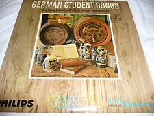 "German Student Songs LP Record Album-12"" 33 RPM-G+ World Music"