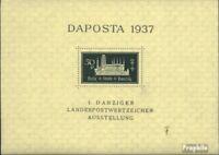 Danzig Block1b (kompl.Ausg.) mit Falz 1937 DAPOSTA