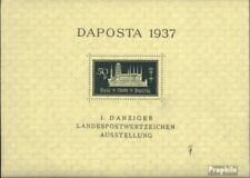 Gdansk Bloc 1b (édition complète) avec charnière 1937 daposta