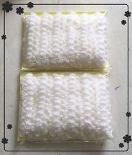 120 X NEW HANDMADE CROCHET SMALL FLOWERS  WHITE COLOUR SIZE 3 CM
