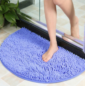 Bathing Slip-resistant Rug Floor Door Mat Semi Circle Floor Door Cushion Mat Rug