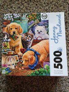 Master Piece Jenny Newland Purrfect Garden Buddies 500 Pc Jigsaw Puzzle New