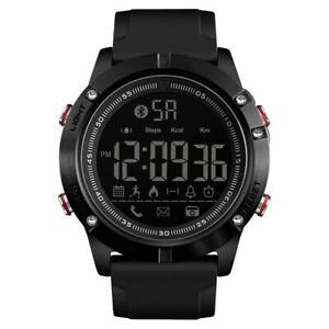 Skmei Smartwatch Android App Pedometer Stopwatch Alarm Light Calories Mobile UK