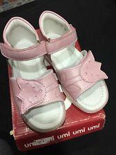 Umi en Cuir Rose Réglable Sandales Taille 7 EUR 24